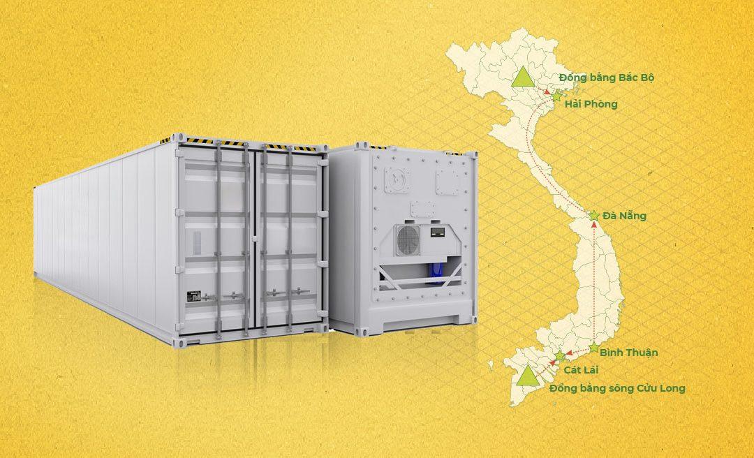 Dịch vụ chuyển Container lạnh rỗng 2 chiều Nam – Bắc